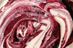 Swirl the blackcurrant through the ice cream