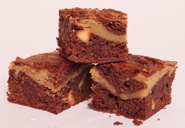Butterscotch peanut butter cheesecake brownie